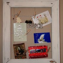 Pottery Barn Inspired Empty Frame Art & Card Display