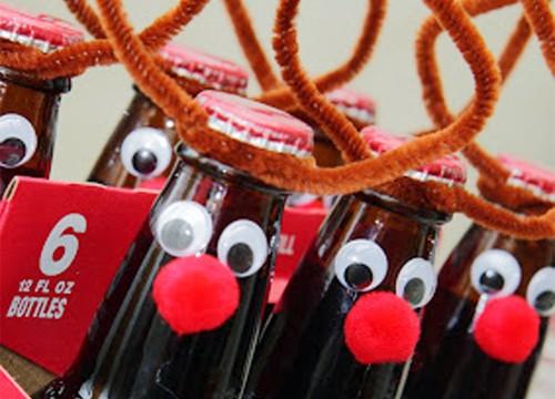 Root Beer Reindeer Handmade Christmas Gift