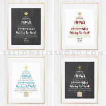 Christmas Tree Scripture Printable