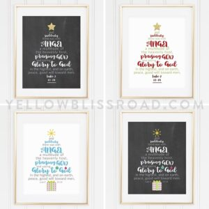 Christmas Tree Scripture Printable