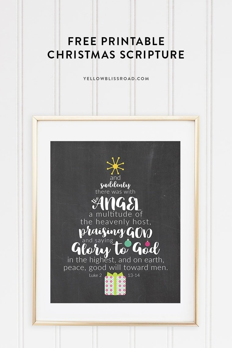 This Free Printable Christmas Scripture Tree speaks to the true meaning of Christmas. Available in a variety of colors and backgrounds, it's the perfect addition to any Christmas decor!