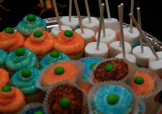 Cupcakes on a tray