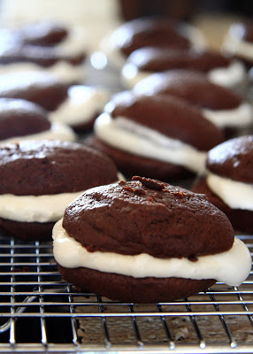 Whoopie pies on a cooling rack
