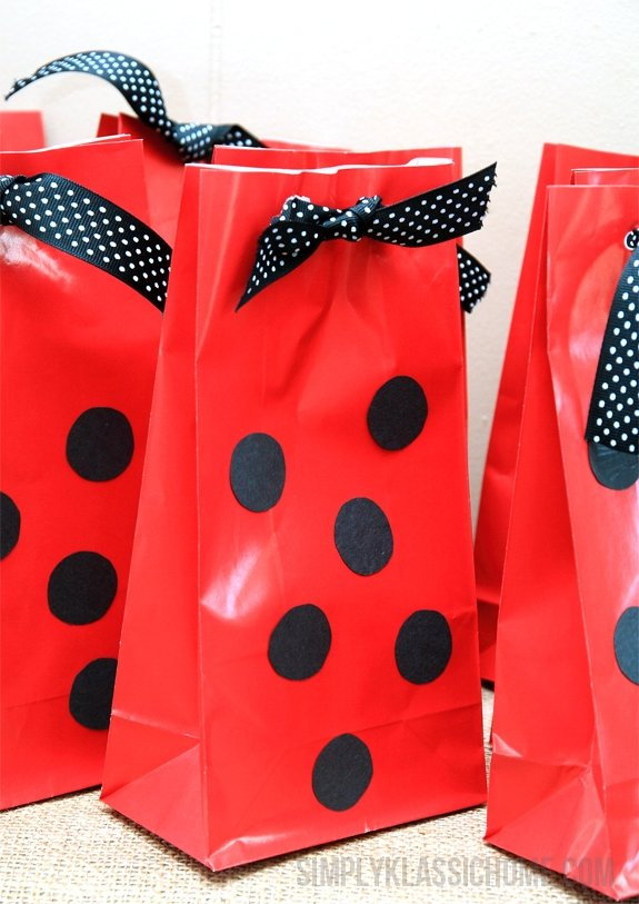 Red and Black party bags