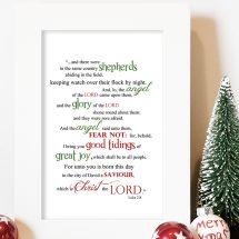 Luke 2:8 Word Art (Christmas Printable)
