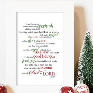 Luke 2:8 Word Art (Christmas Printable)