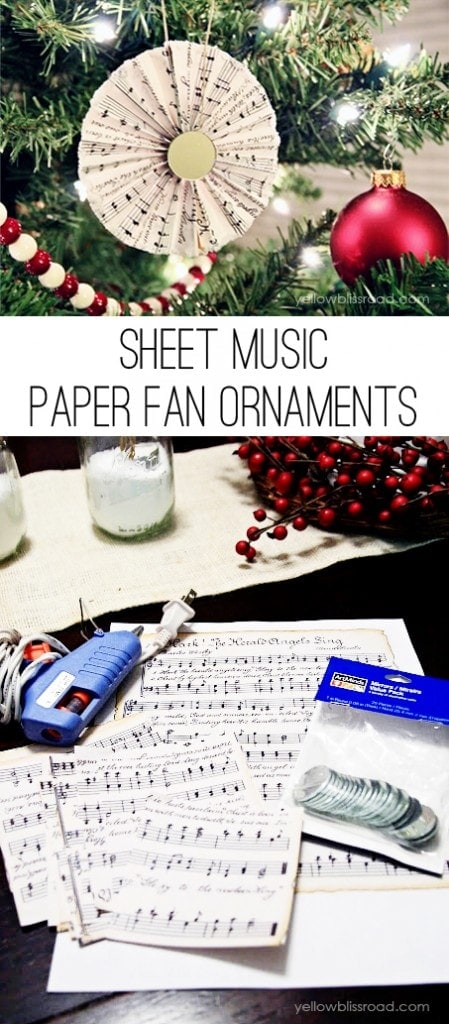 How to Make Sheet Music Paper Fan Ornaments