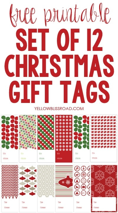 picture regarding 12 Days of Christmas Printable Tags titled Xmas Reward Tags (12 Times of Xmas Printables #6