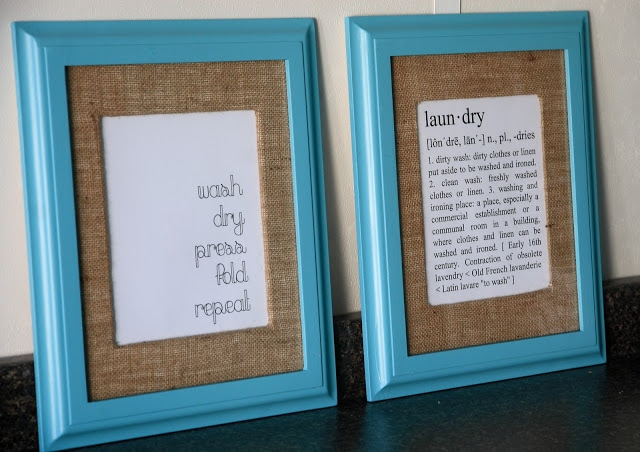 A close up of a signs framed