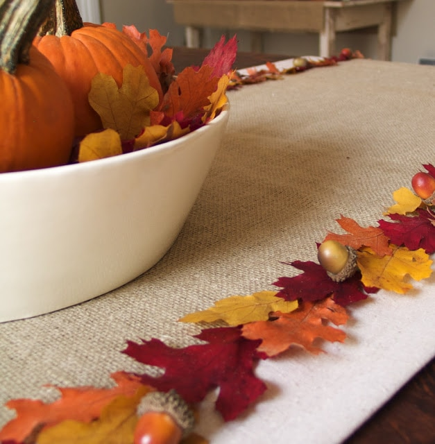 Fall decor on a dining table