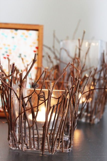 Twigs and candles