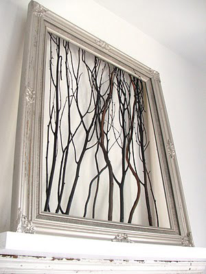 Twigs in a frame