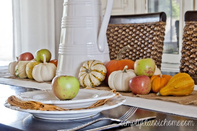 Table with fall decor
