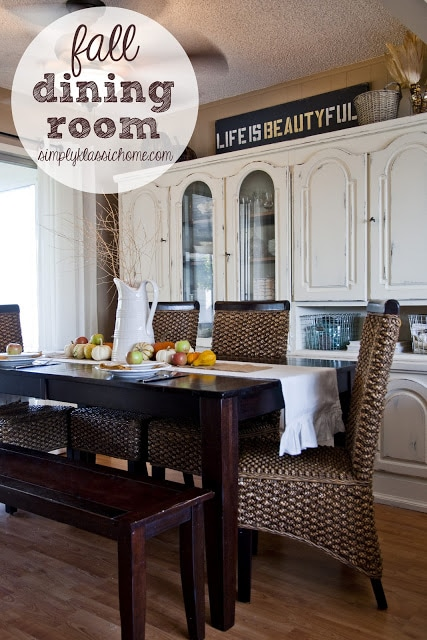 Fall Dining Room and Tablescape