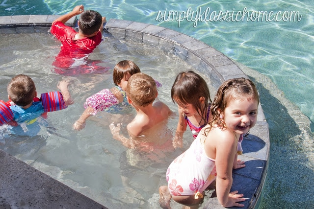 Kids in the jacuzzi