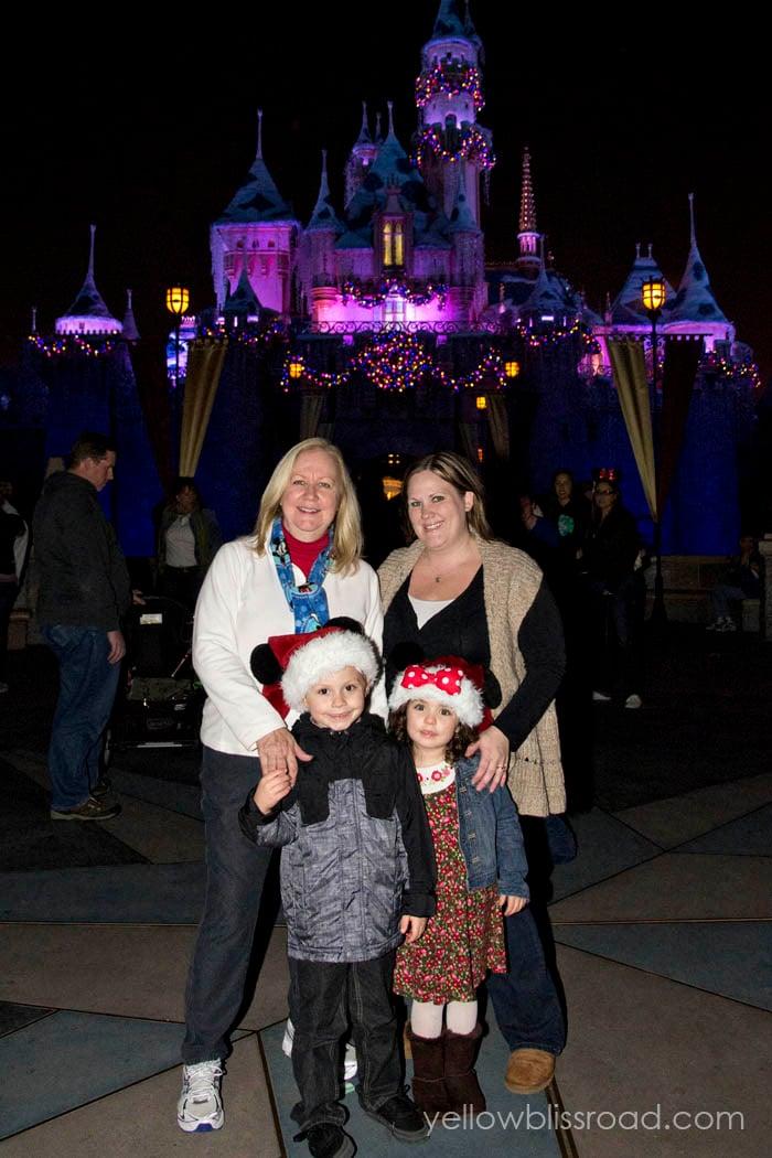 Family Disneyland Xmas Castle