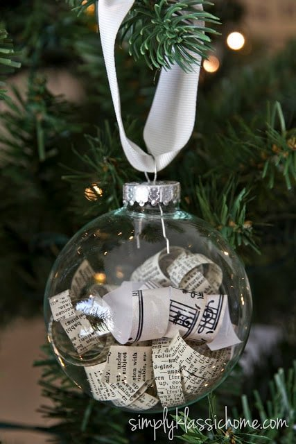A homemade glass ornament