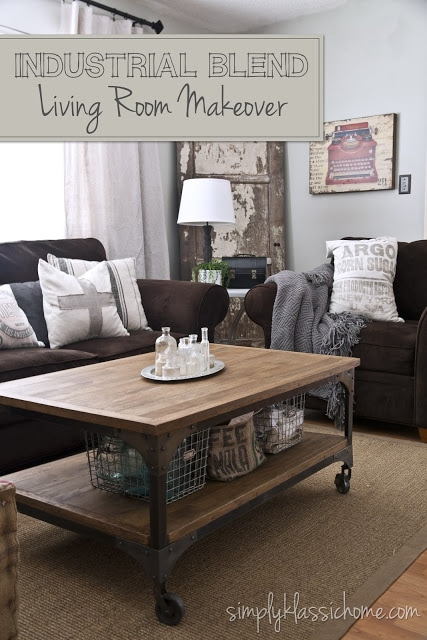 Social media image of Industrial Blend Living Room