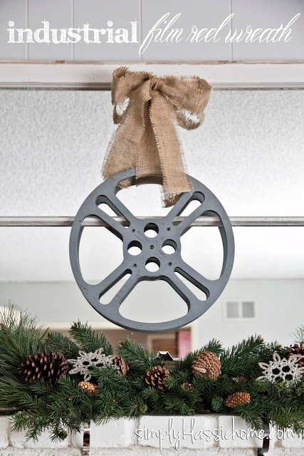 Film reel wreath