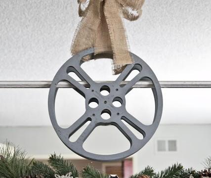 Industrial Film Reel Wreath