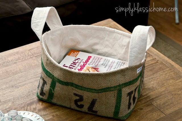 Basket with magazines