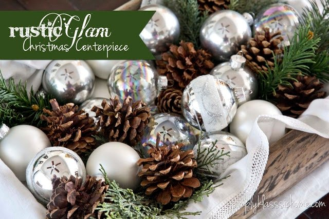 Social media image of Rustic Glam Christmas Centerpiece