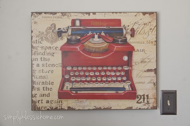 Vintage Typewriter picture on wall