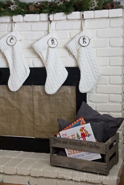 A close up of Christmas stockings