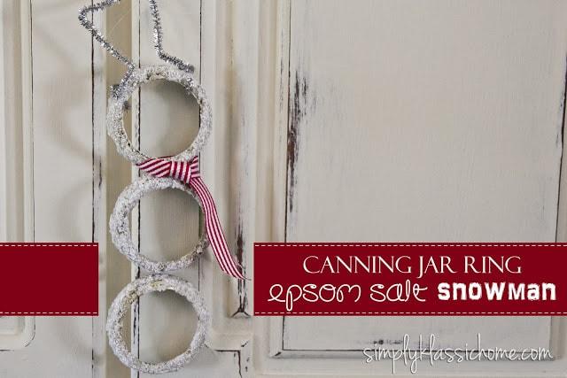 Social media image of Canning Jar Ring Epson Salt Snowman