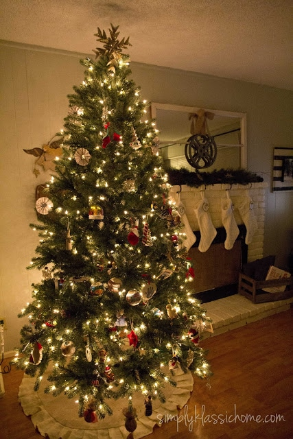 A christmas tree in a living room
