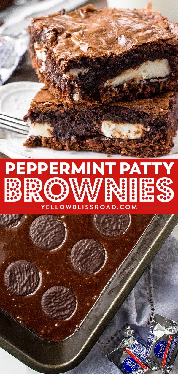 Peppermint Patty Brownies Collage