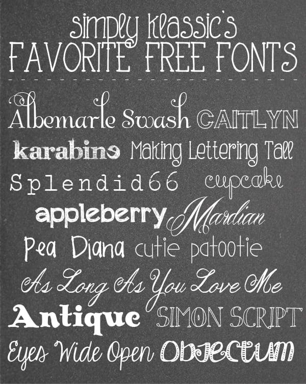 Social media image of Favorite Free Fonts