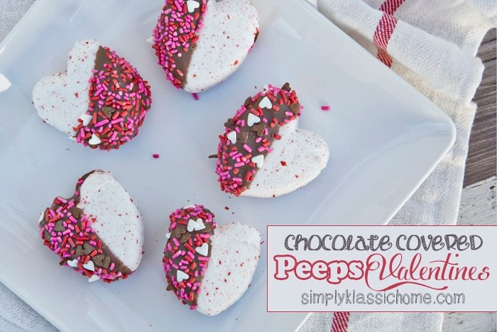 Social media image of Chocolate Covered Peeps Valentines