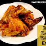 Chicken wings on a white plate