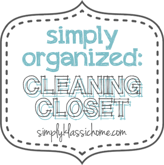Simply Organized: Cleaning Closet