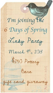 """Sign for \""""6 Days of Spring Linky Party\"""""""