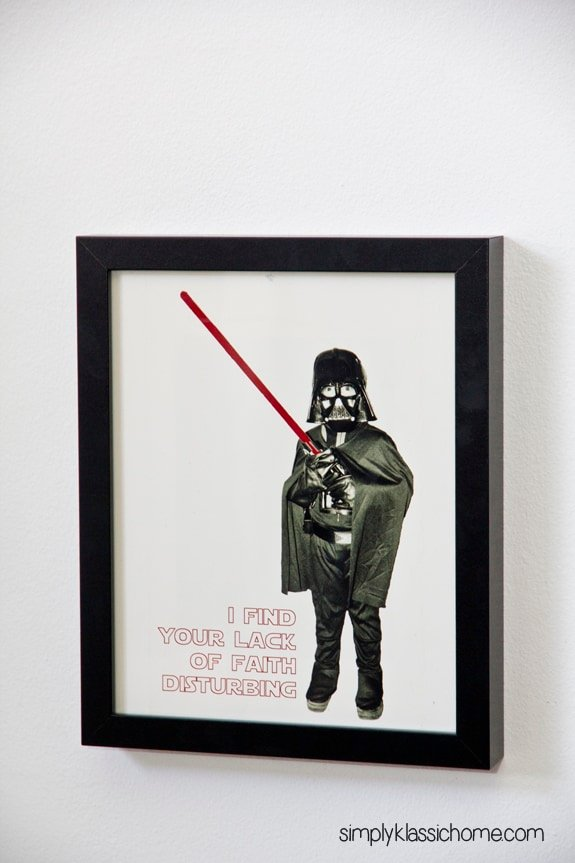 Star Wars picture in a frame