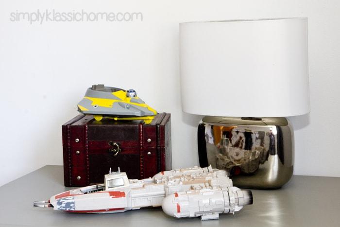 Star Wars decor on top of dresser