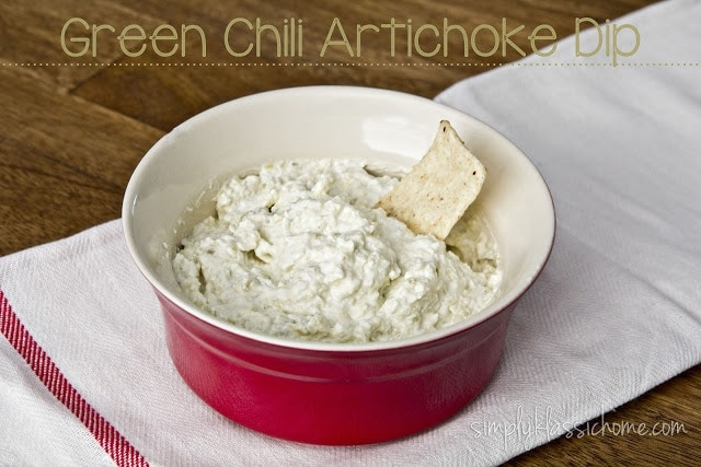 Green Chili Artichoke Dip Appetizer