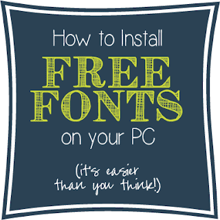 How To Install Free Fonts on your PC