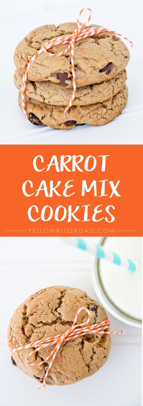 Carrot Cake Mix Cookies - easy to make and perfect for Spring!