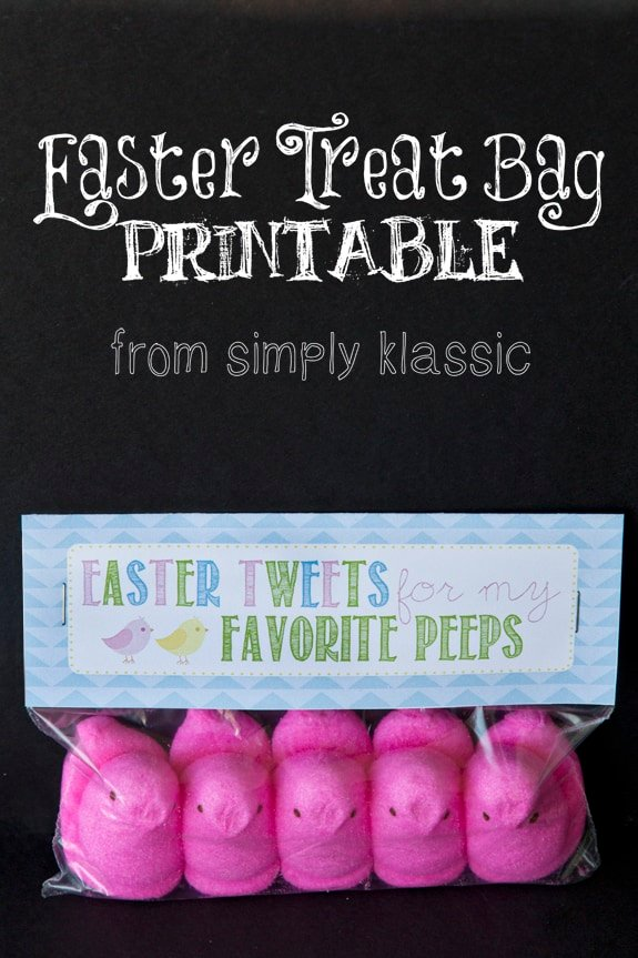 """""""Easter Tweets for My Favorite Peeps"""" Gift Idea with Free Printable Tag"""