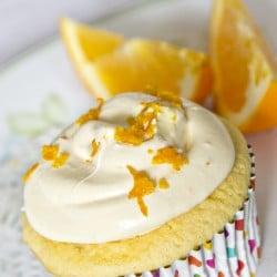 Semi-Homemade Orange Buttercream Cupcakes