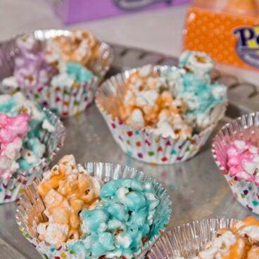 Peeps Popcorn on table
