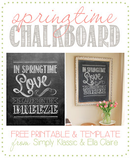 Social media image of springtime Chalkboard printable