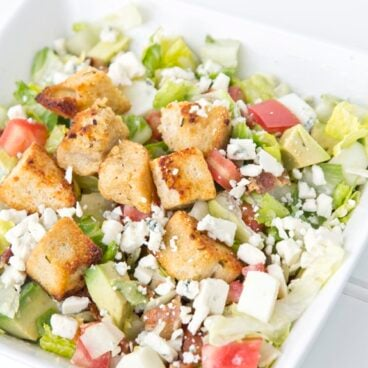 A dish of a Cobb Salad