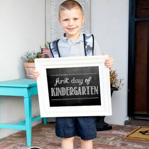 First Day of School Chalkboard Printables