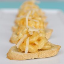 Parmesan Mac & Cheese Crostini Appetizer