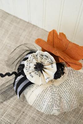 Pumpkin craft made out of fabric