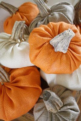 A group of craft pumpkins